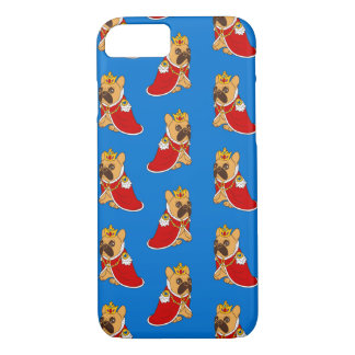Black mask fawn Frenchie is the King of the house iPhone 8/7 Case