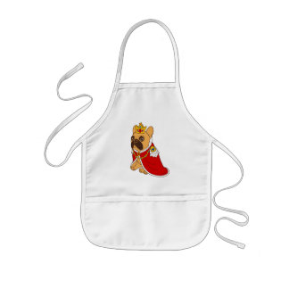 Black mask fawn Frenchie is the King of the house Kids Apron