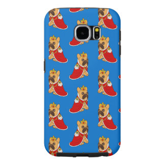Black mask fawn Frenchie is the King of the house Samsung Galaxy S6 Case