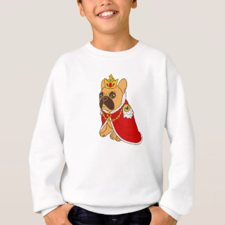 Black mask fawn Frenchie is the King of the house Sweatshirt
