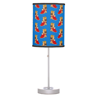 Black mask fawn Frenchie is the King of the house Table Lamp
