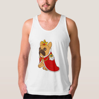 Black mask fawn Frenchie is the King of the house Tank Top