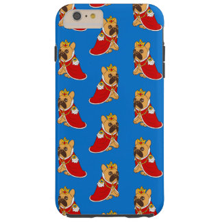 Black mask fawn Frenchie is the King of the house Tough iPhone 6 Plus Case