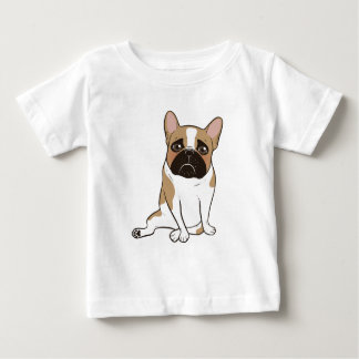 Black Mask Pied French Bulldog Wants Your Love Baby T-Shirt