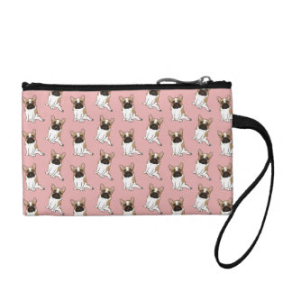 Black Mask Pied French Bulldog Wants Your Love Coin Wallets