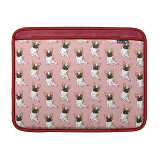 Black Mask Pied French Bulldog Wants Your Love MacBook Sleeves