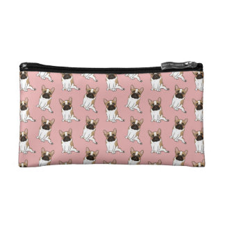 Black Mask Pied French Bulldog Wants Your Love Makeup Bags