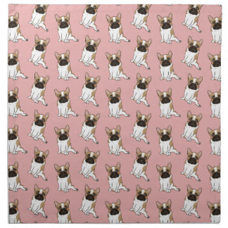 Black Mask Pied French Bulldog Wants Your Love Napkin