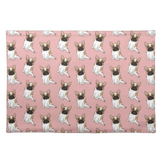 Black Mask Pied French Bulldog Wants Your Love Placemat