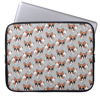 Black Mask Red Pied French Bulldog Laptop Computer Sleeves