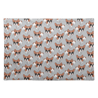 Black Mask Red Pied French Bulldog Placemat