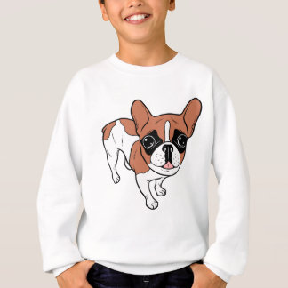 Black Mask Red Pied French Bulldog Sweatshirt