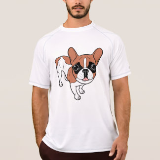 Black Mask Red Pied French Bulldog T-Shirt