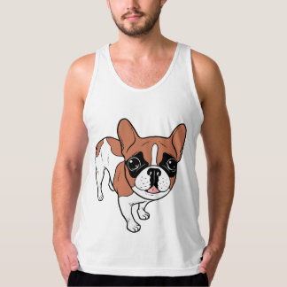 Black Mask Red Pied French Bulldog Tank Top