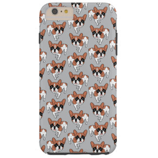 Black Mask Red Pied French Bulldog Tough iPhone 6 Plus Case