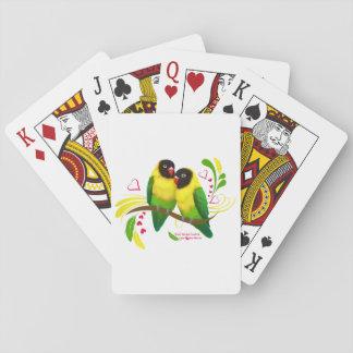 Black Masked Lovebirds Playing Cards