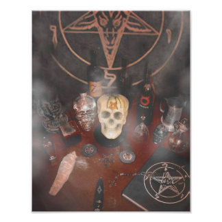 Black Mass Altar Poster