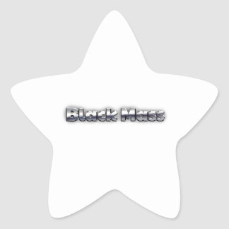 Black Mass Star Sticker