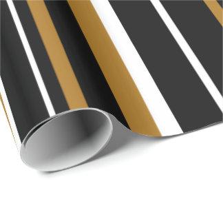 Black, Matte Gold, & White Stripe