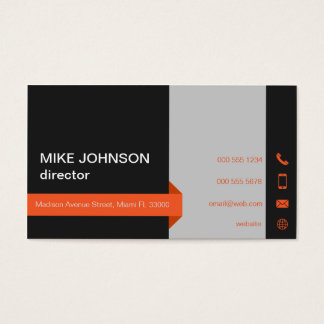 Black matte professional business card