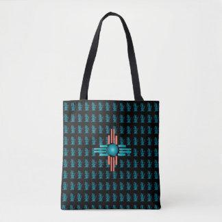 Black Mayan Tote Bag
