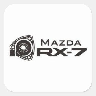 Black Mazda RX-7 Rotary Engine Stickers