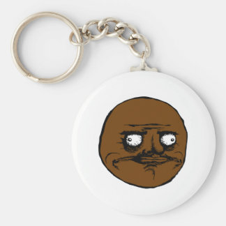 Black Me Gusta Rage Face Meme Basic Round Button Keychain