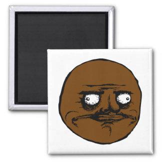 Black Me Gusta Rage Face Meme Square Magnet