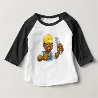 Black Mechanic or Plumber Handyman Baby T-Shirt