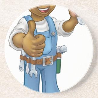 Black Mechanic or Plumber Handyman Coaster