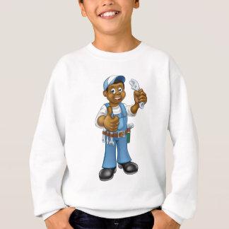 Black Mechanic or Plumber Handyman Sweatshirt