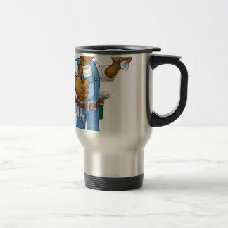 Black Mechanic or Plumber Handyman Travel Mug