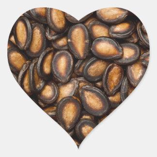Black melon seeds heart sticker