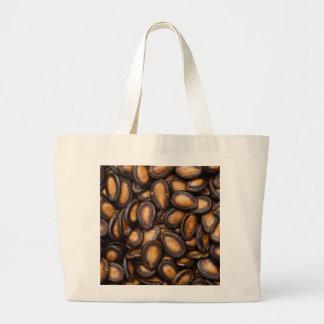 Black melon seeds large tote bag
