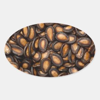 Black melon seeds oval sticker
