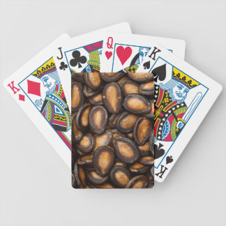 Black melon seeds poker deck