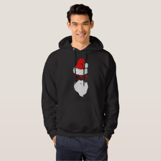 Black Men's Santa Graphic Sweatshirt