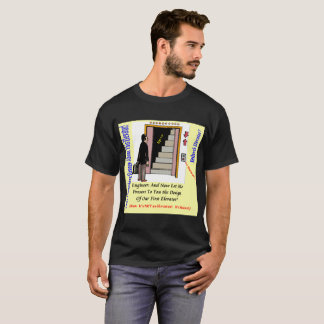 Black Men's T-Shirt Elevator Engineer Design
