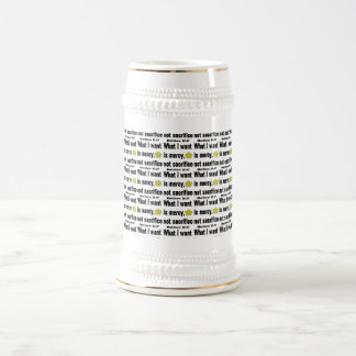 Black Mercy Not Sacrifice Tiled Beer Stein