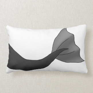 Black Mermaid Tail Lumbar Pillow
