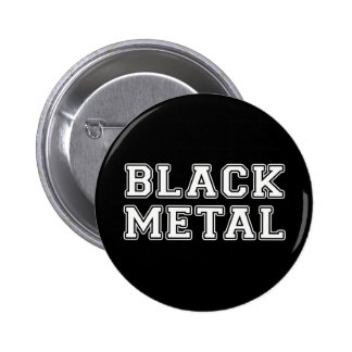 Black Metal 2 Inch Round Button