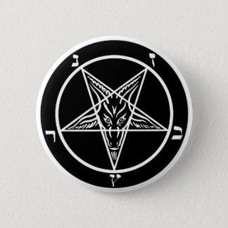 black metal baphomet button-- evil!! 2 inch round button