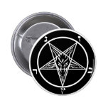 black metal, baphomet, lord of darkness! 2 inch round button