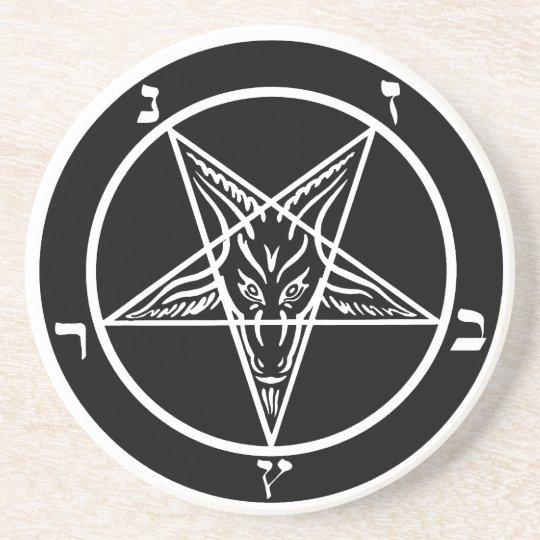 Black metal coaster SATAN!