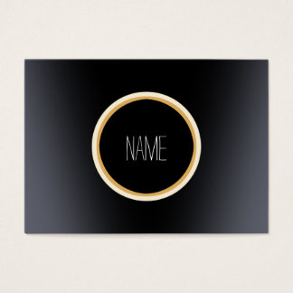 Black Metal Elegant Business Card