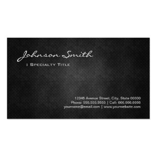 Black Metal Iron Steel - Cool Platinum Look Business Cards