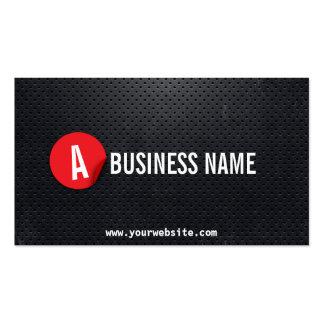 Black Metal Red Label Plumber Business Card