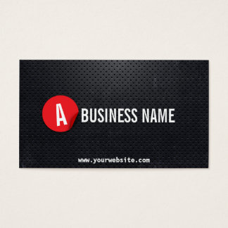 Black Metal Red Label Plumber Business Card
