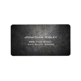 Black METAL Shipping Label