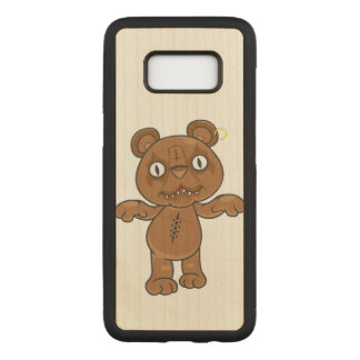 Black Metal Teddy Bear Carved Samsung Galaxy S8 Case